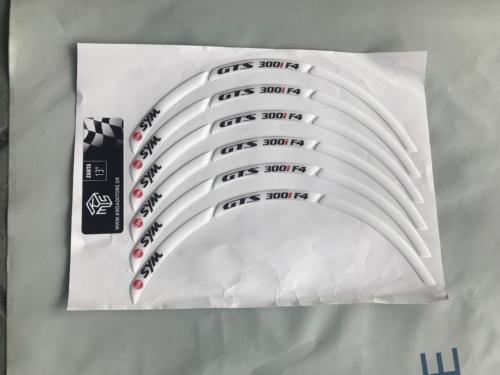 """SYM GTS 300 I F4 WHITE 3PCS 13"""""""